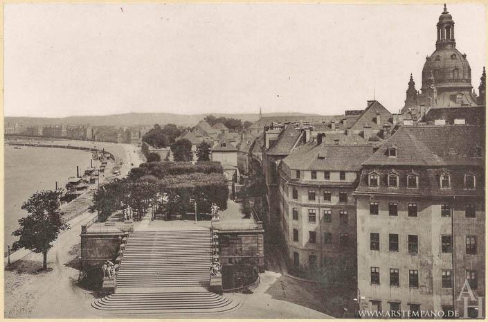 Die Bruhlsche Terrasse In Dresden Im Wandel Der Zeit Arstempano